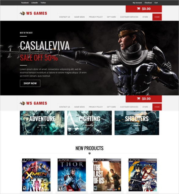 Games WordPress Business Website Theme $19