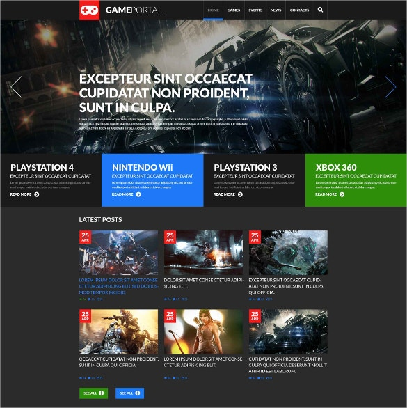 Gaming Fan Board WordPress Website Theme $75