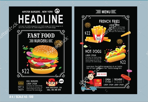 fast food burger flyer1