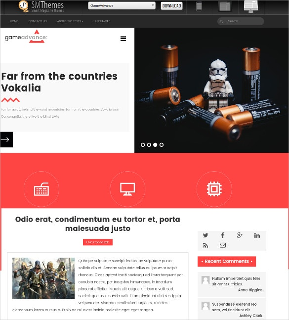 Free Advance Game WordPress Website Theme