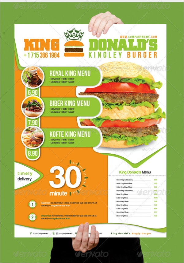 King Donald's Burger Flyer