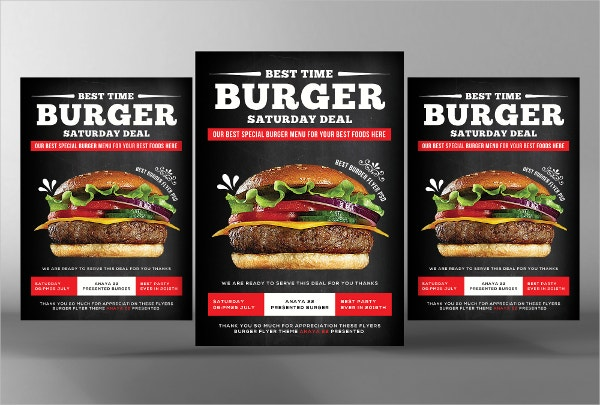 Big Burger Offer Flyer Template