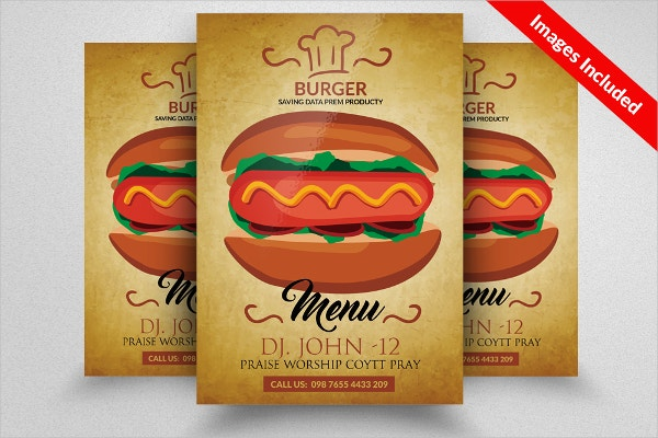 Fast Food menu Burger Flyer
