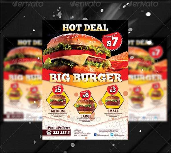 Fresh Burger Food Flyer Templates