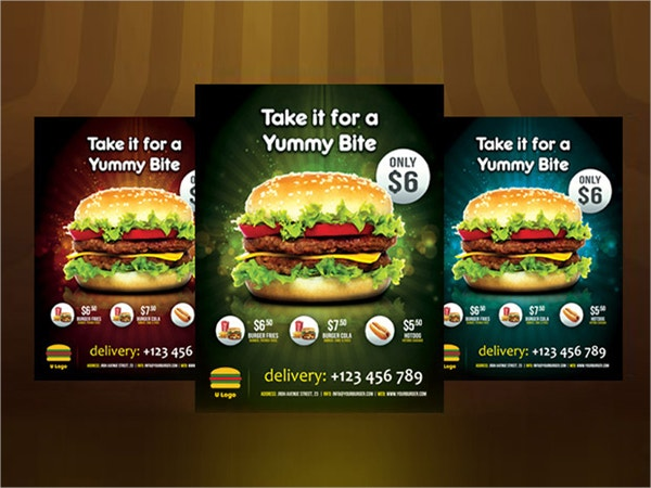 american burger flyer template