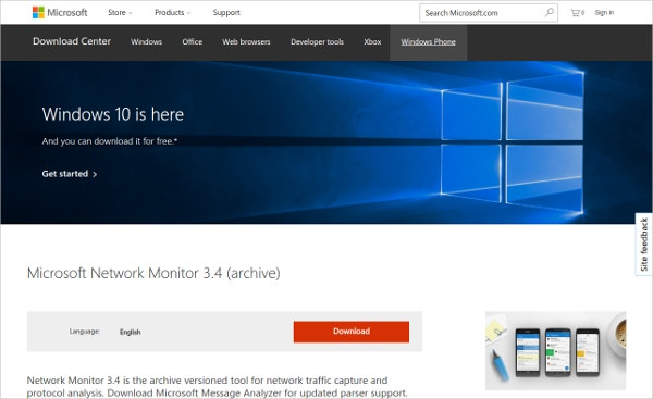 Microsoft Network Monitor Tool