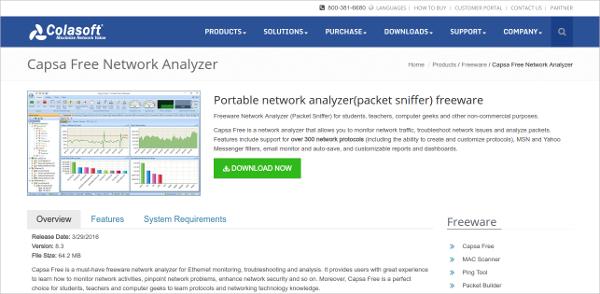 Capsa Free Network Analyzer