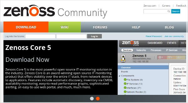 Zenoss Network Monitoring Tool