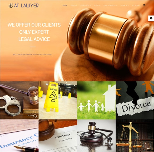 Law Firm Joomla Website Template $19