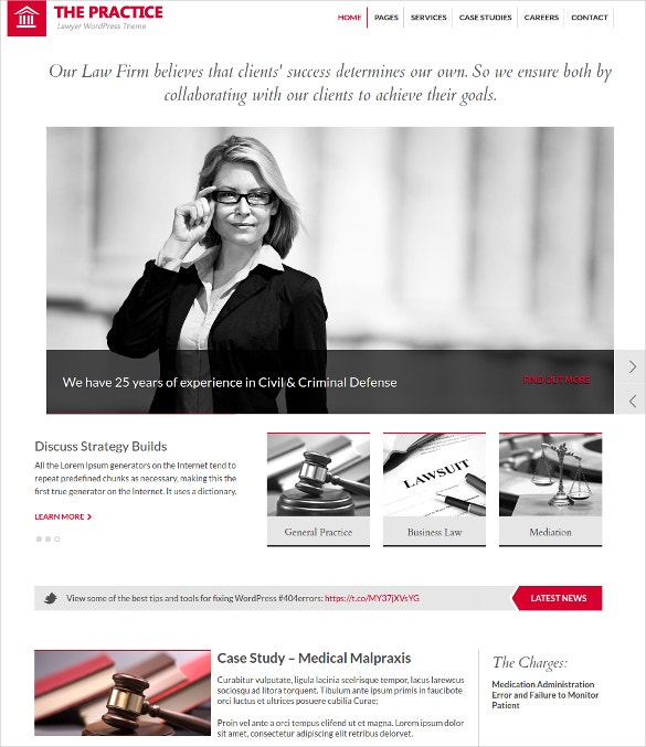 Practice Law Firm WordPress Website Theme