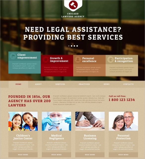 Lawyers Agency & Law Firm Joomla Website Template $75