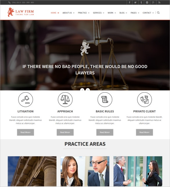 Law Firm WordPress Business Website Theme $49