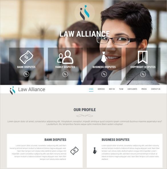 Private Lawyer Bootstrap Website Theme $10