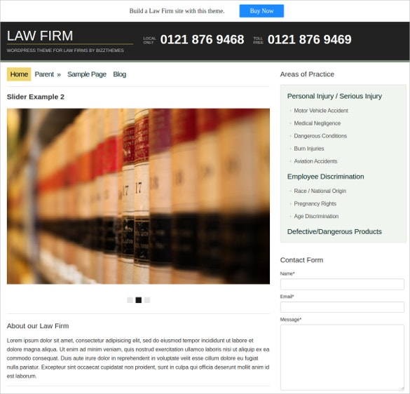 Law Firm WordPress Website Theme