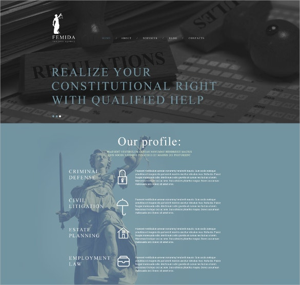 Multipurpose LAw Firm Joomla Website Template $75