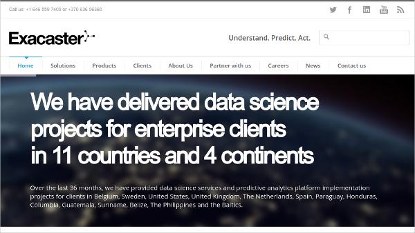 Exacaster Predictive Analytics Tool