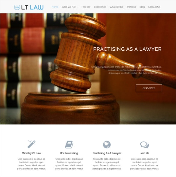 Social Law Firm WordPress Website Theme $29