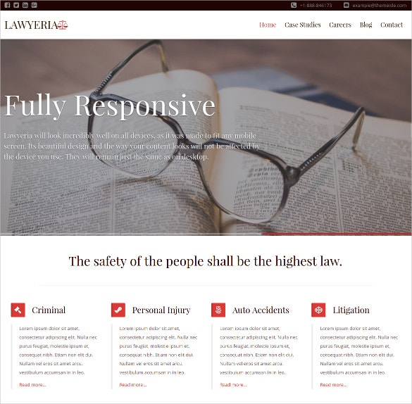Premium Law Firm WordPress Website Theme $99