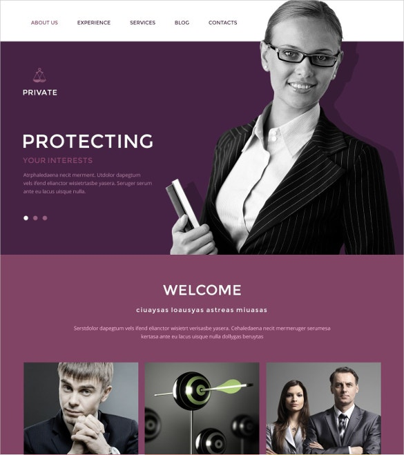 Law Office Drupal Website Template $75