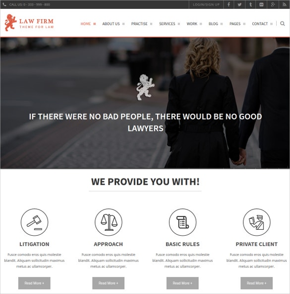 Law Firm Consulting HTML Website Template $17
