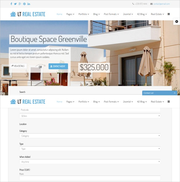 RealtorJoomla Website Template $29