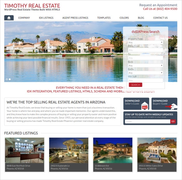 WordPress Website Realtor Agent Theme
