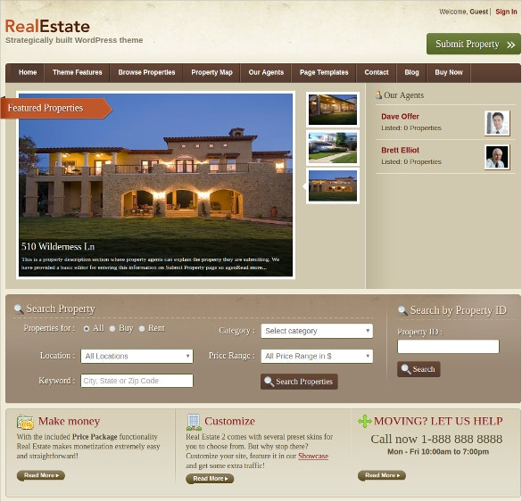 Realtor Property WordPress Website Theme
