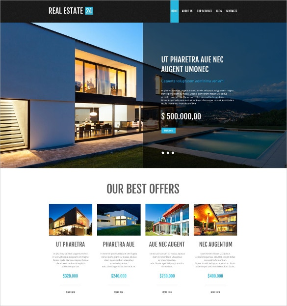 Realtor Services WordPress Website Theme $75