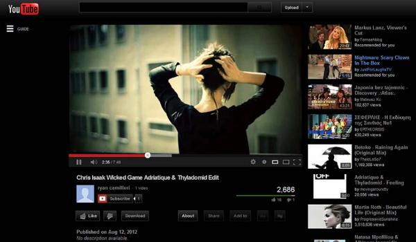 black youtube theme
