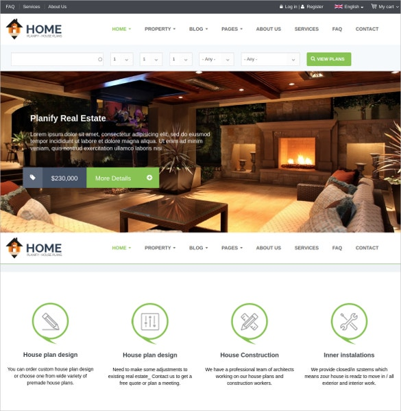 Realtor & eCommerce Website Theme $48