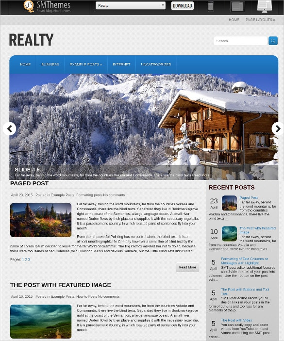 Free Perfect Realtor WordPress Website Theme