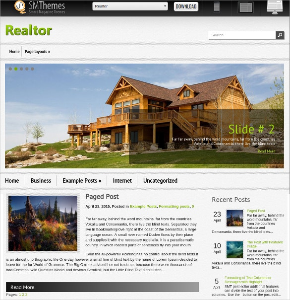 Free Multipurpose Realtor WordPress Website Theme