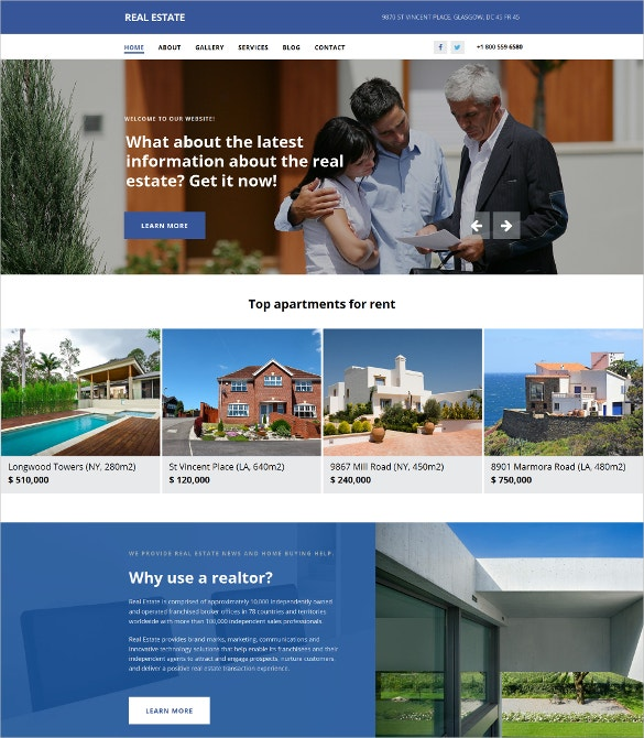 Realtor Agency Moto CMS 3 Website Template $199