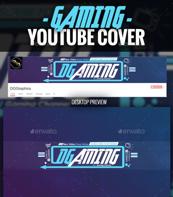 gaming youtube cover template
