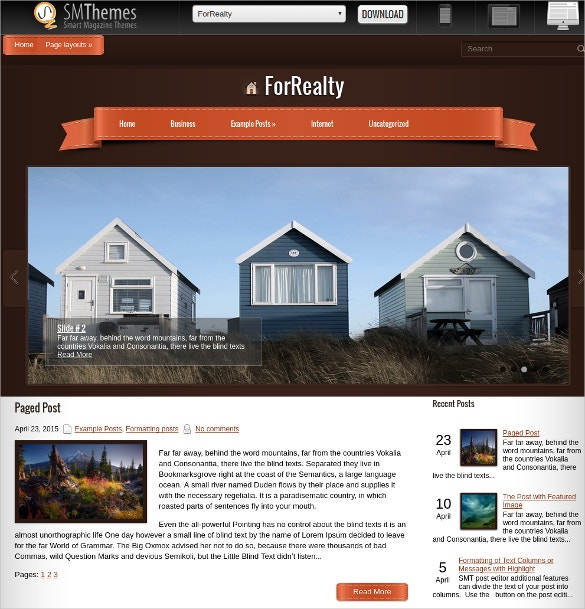 Free Design Realtor WordPress Website Theme