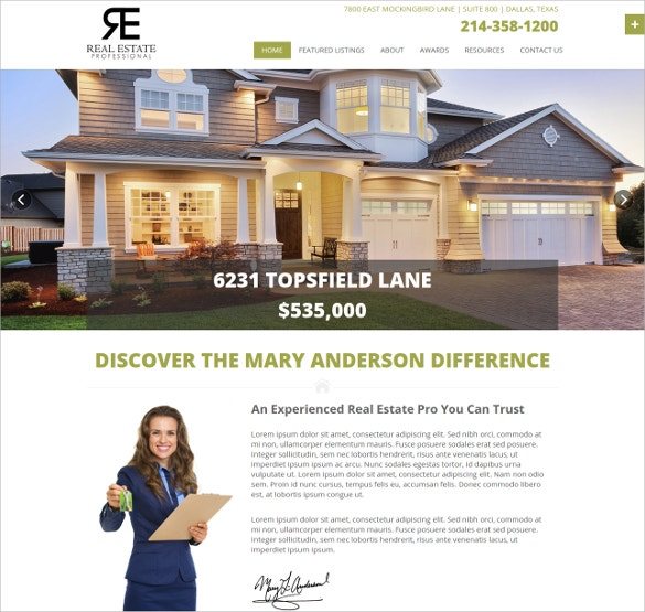 Realtor Professional Bootstarp Website Theme $18