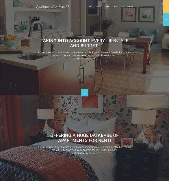 Apartments For Rent Realtor Joomla Website Template $75