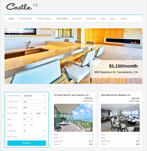 Realtor Housing WordPress Website Theme $39