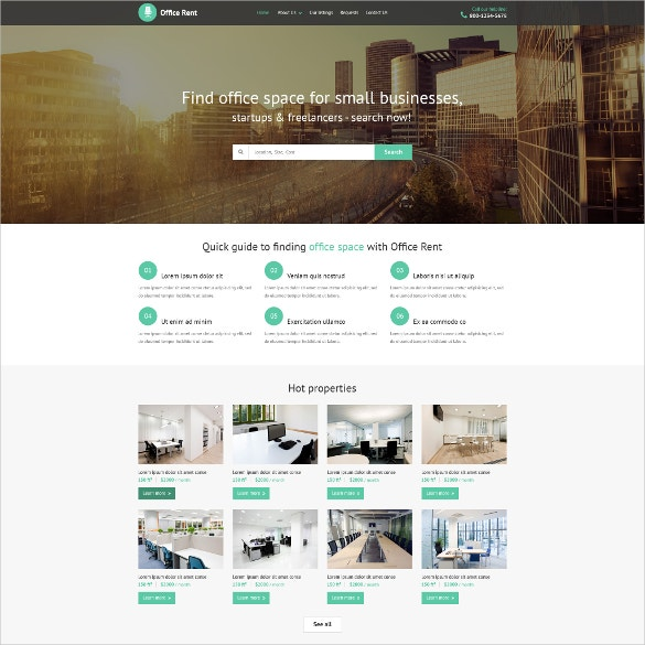 Small Business Realtor Website Template $69