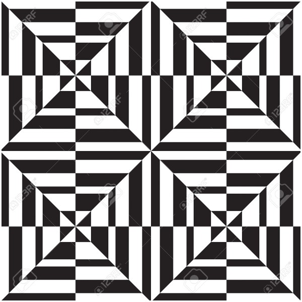 Seamless Ggeometric Pattern in Op Art
