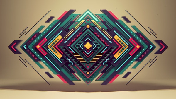 Pure Geometry Art Background Design