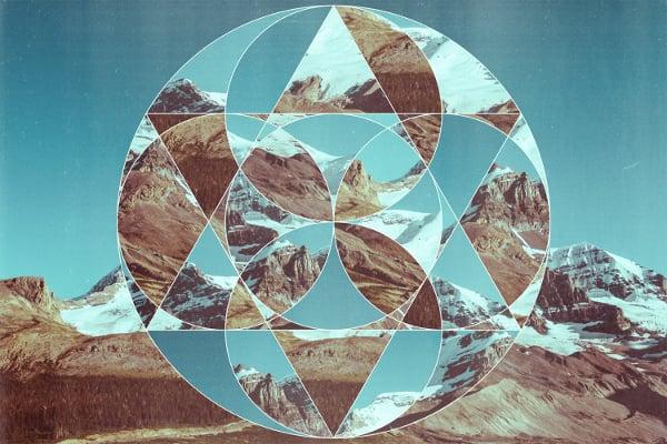 Geometric Image Cropped Landscape Art