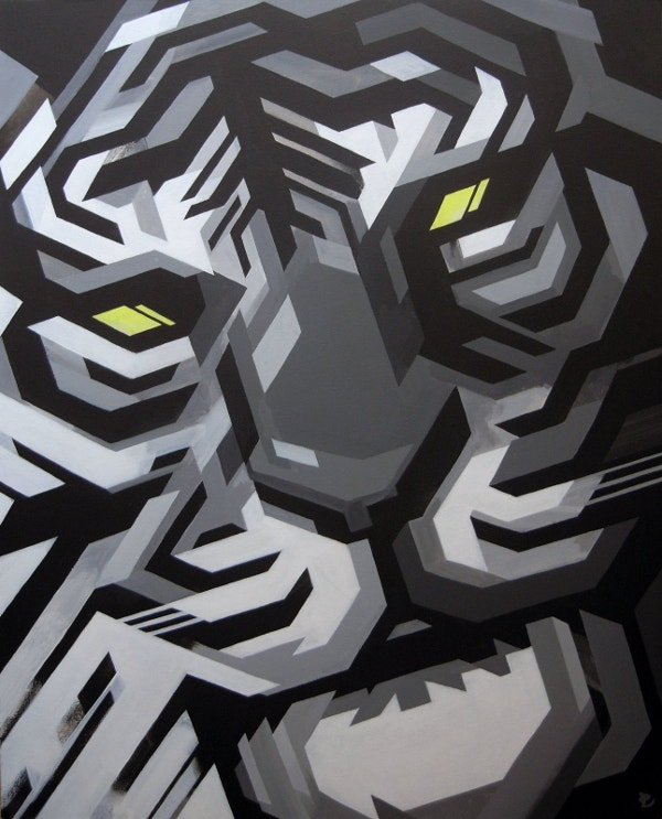 Geometric Tiger Art Design