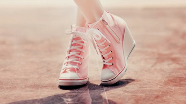 Girly Shoes Wallpaper Background for Laptop