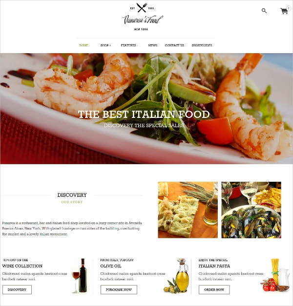 restaurant food wordpress theme
