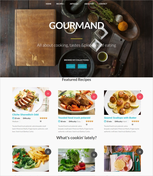 Tasty Cooking Food WordPress Theme