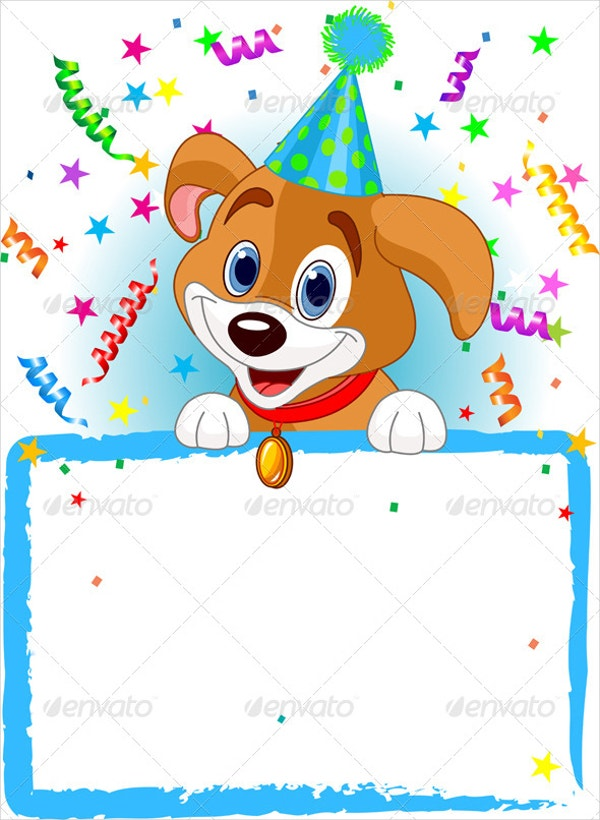 Dog Birthday Invitation Template  Free Birthday Party Invitation Template