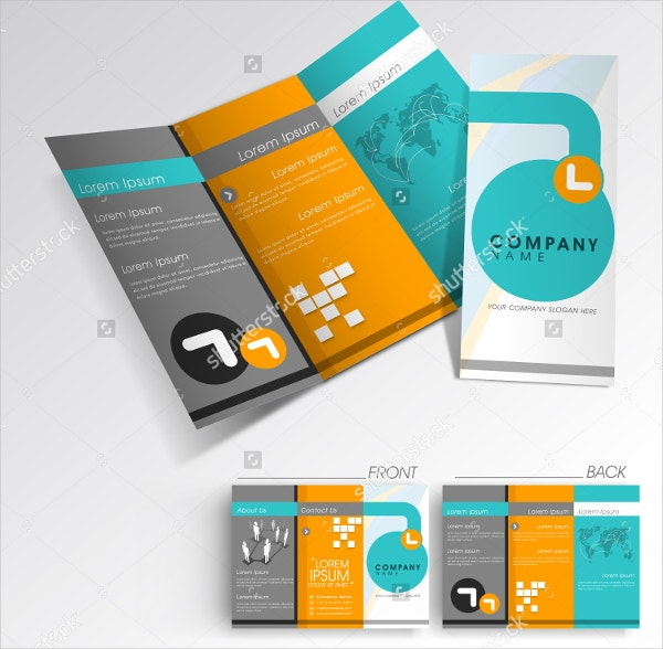 Professional Corporate TriFold Brochure Free PSD Template Free - Professional brochure templates free