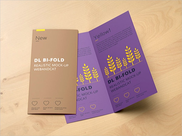 Glossy Folded Brochure Template
