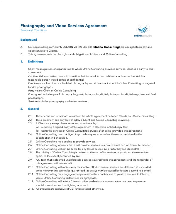 Superior Personal Confidentiality Agreement For Photographer